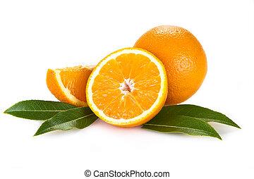 orange, früchte