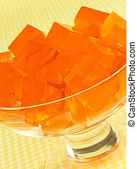 Orange Gelatin Dessert.
