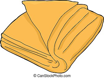 orange, handtuch, freigestellt