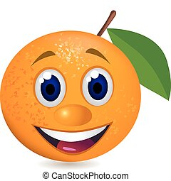 orange, karikatur