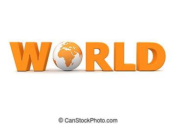 Orange Welt.