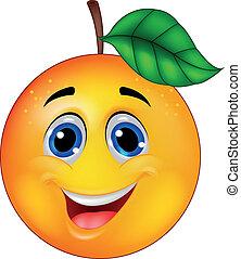 orange, zeichen, karikatur