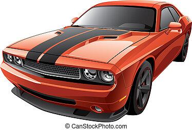 Orangeer Muskelwagen