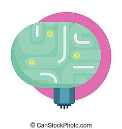 organ, heiligenbilder, reihe, elecrtonic, ihm, gehirn, android, menschliche , robotic, reproduktion, teil, karikatur, zukunftsidee, wissenschaft