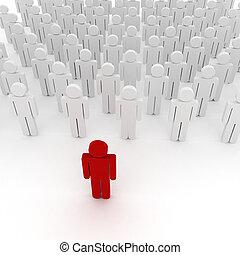 organisation, 3d, crowd, kaufleuten zürich