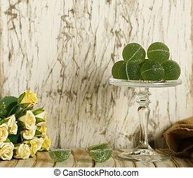 organische , nachtisch, fruechte, grün, marmelade, gesunde