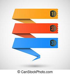 Origami-Kennzeichen für deinen Text, vecto