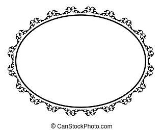 Oval-Ornamentale Dekoration