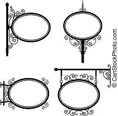 Ovalzeichen.