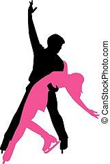 paar, eis tanzen