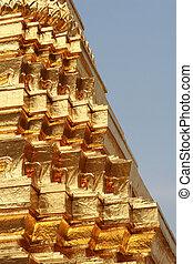 pagode, goldenes, detail