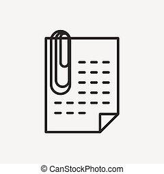 Papier mit Clip Ikone.