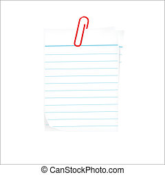 Papier Tag mit Clip.