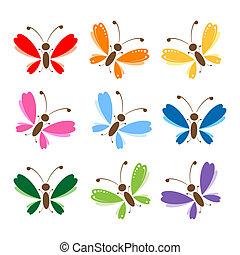 papillon, dein, fester entwurf