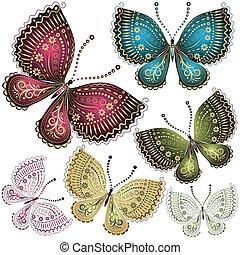 papillon, fantasie, satz, weinlese