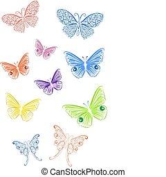 papillon, gefärbt, spitze