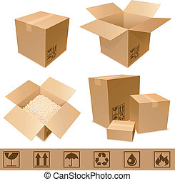 pappe, boxes.