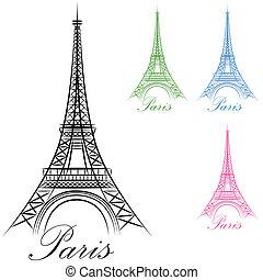 Paris Eiffelturm-Ikone