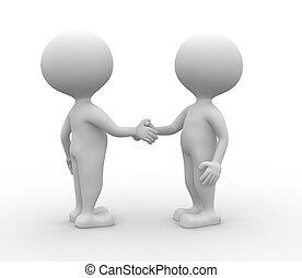 Partnerschaft - Handschlag.