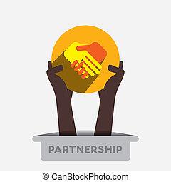 Partnerschafts-Ikone.