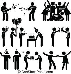 party, geburstag, freund, feier