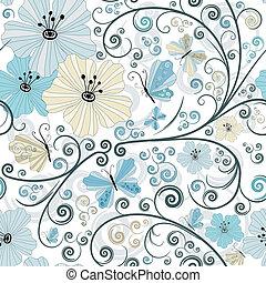 Pastel, nahtloses Blumenmuster