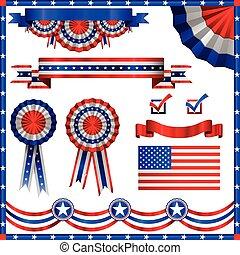 patriotisch, amerikanische , elemente