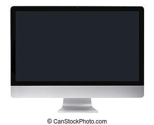 pc computer, glatt, monitor