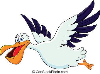 Pelican Cartoon-Flügel
