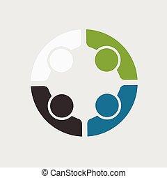 People Team 4 Business Meeting Logo.