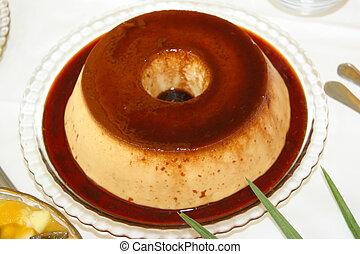 perfekt, ganz, kuchen, pudding