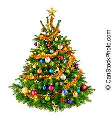 Perfekter farbenfroher Weihnachtsbaum.