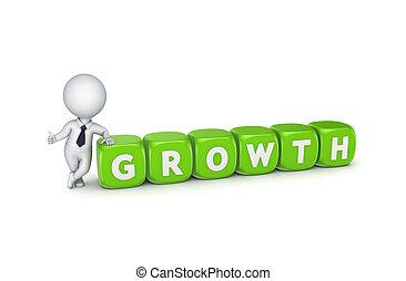 person, growth., 3d, wort, klein