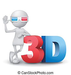 person, wort, 3d