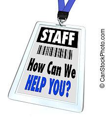 Personal, wie können wir Ihnen helfen