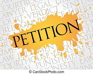 Petitionswortwolke.