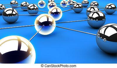 pfad, vernetzung