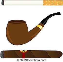 pfeife, zigarre, zigarette