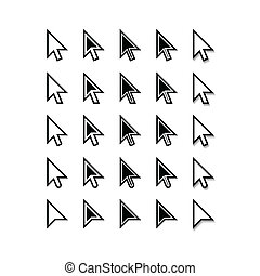 Pfeile. Cursor-Ikonen. Mausepointer-Set. Vector