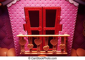 Pink House Spielzeug.