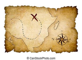 Piratensender mit markiertem Standort