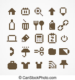 Pixel Web-Ikons-Sammlung. Set 3