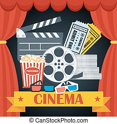 plakat, hell, sinema