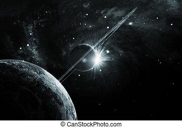 Planet mit Ringen