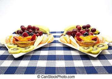platte, frucht scharf