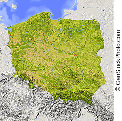 Polen, abgeschirmte Landkarte