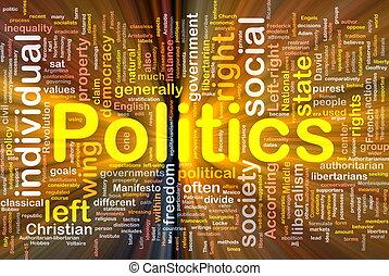 politik, glühen, begriff, hintergrund, sozial
