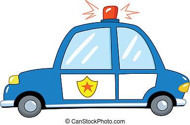 Polizeiwagen Cartoon