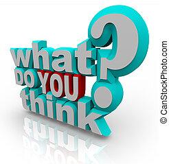 poll, frage, vermessung, was, sie, denken