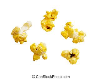 popcorn, körner, ausschnitt weg